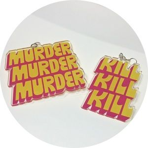 MURDER KILL Avant-Garde Earrings